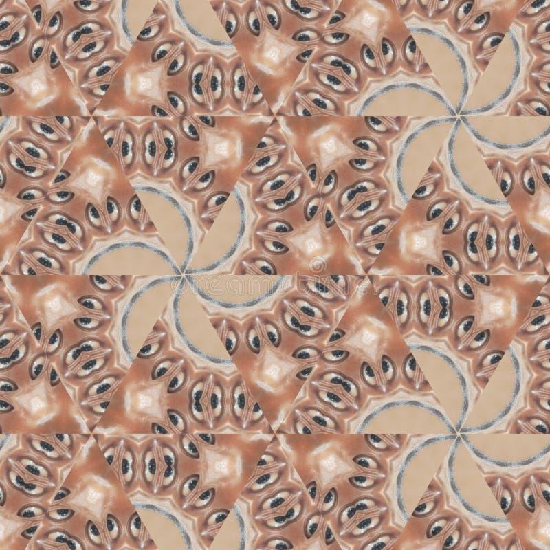 Geometrische Zusammenfassung Brown, orange, roter, schwarzer, weißer, grauer digitaler Hintergrund mit kybernetischen Partikeln stock abbildung