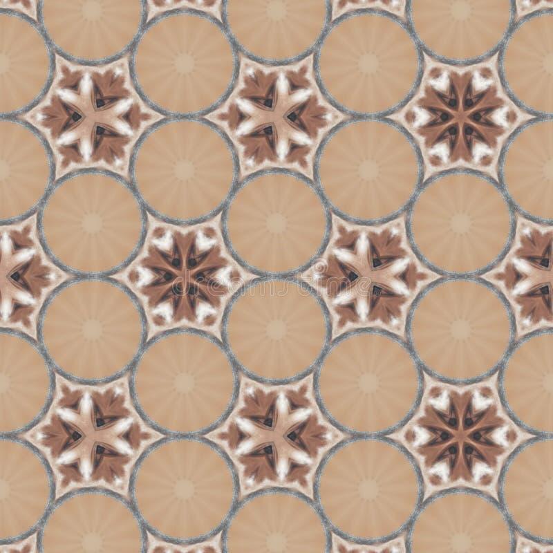 Geometrische Zusammenfassung Brown, orange, roter, schwarzer, wei?er, grauer digitaler Hintergrund mit kybernetischen Partikeln stock abbildung