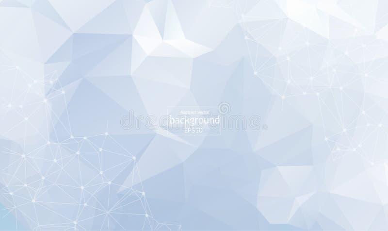 Geometrische Zusammenfassung mit verbundener Linie und Punkten Grafischer nahtloser Hintergrund Moderner stilvoller polygonaler H vektor abbildung