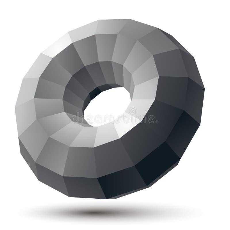 Geometrische zwart-wit veelhoekige structuur, moderne wetenschap en tec stock illustratie
