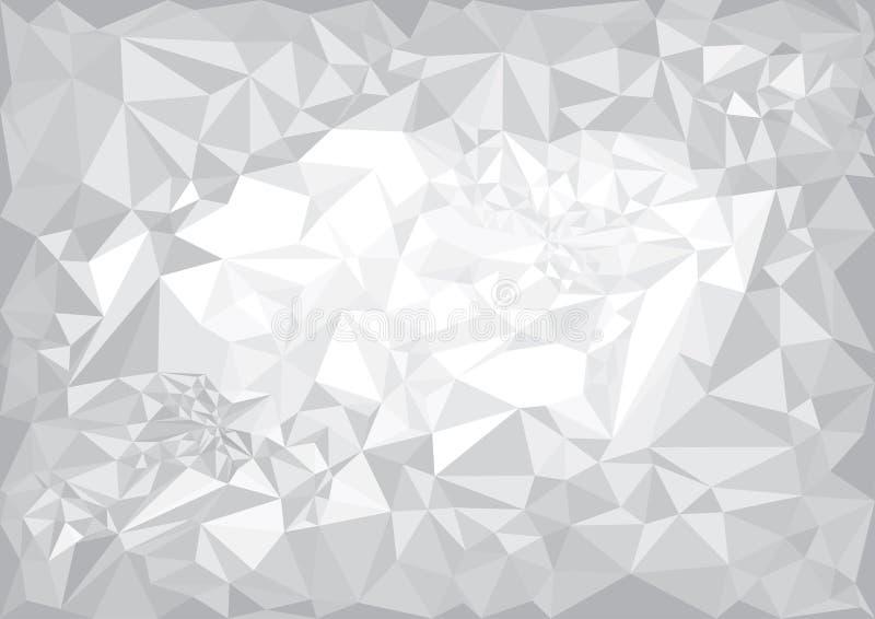Geometrische zwart-witte achtergrond stock afbeelding