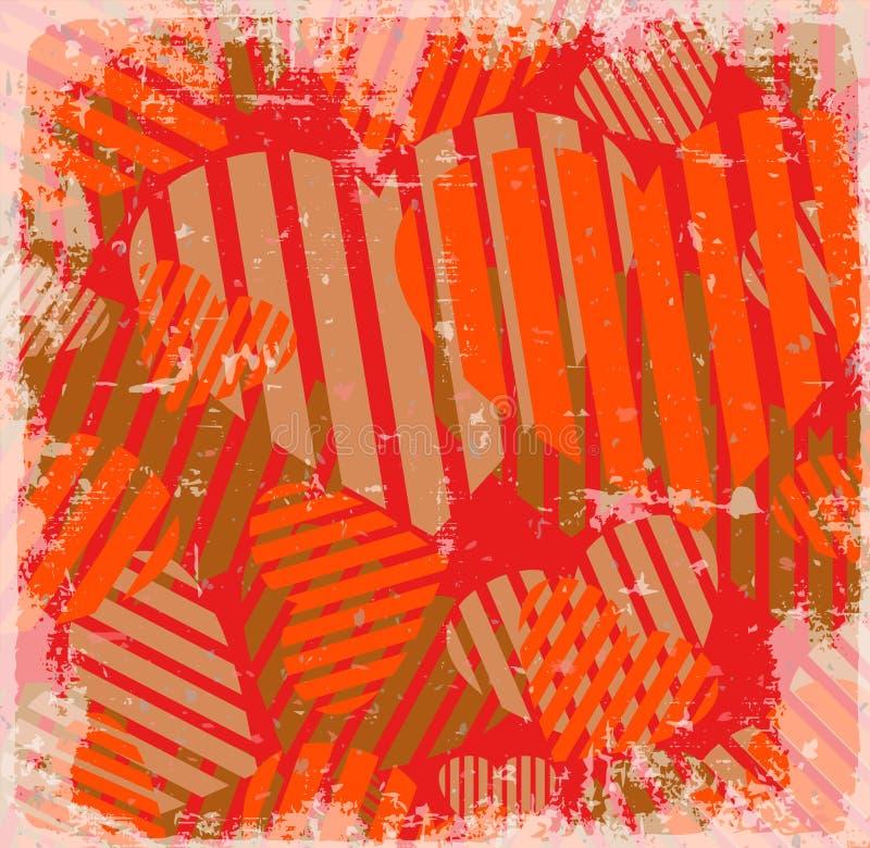 Geometrischer abstrakter Hintergrund lizenzfreie abbildung