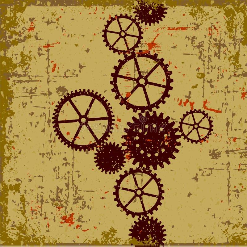 Geometrischer abstrakter Hintergrund stock abbildung