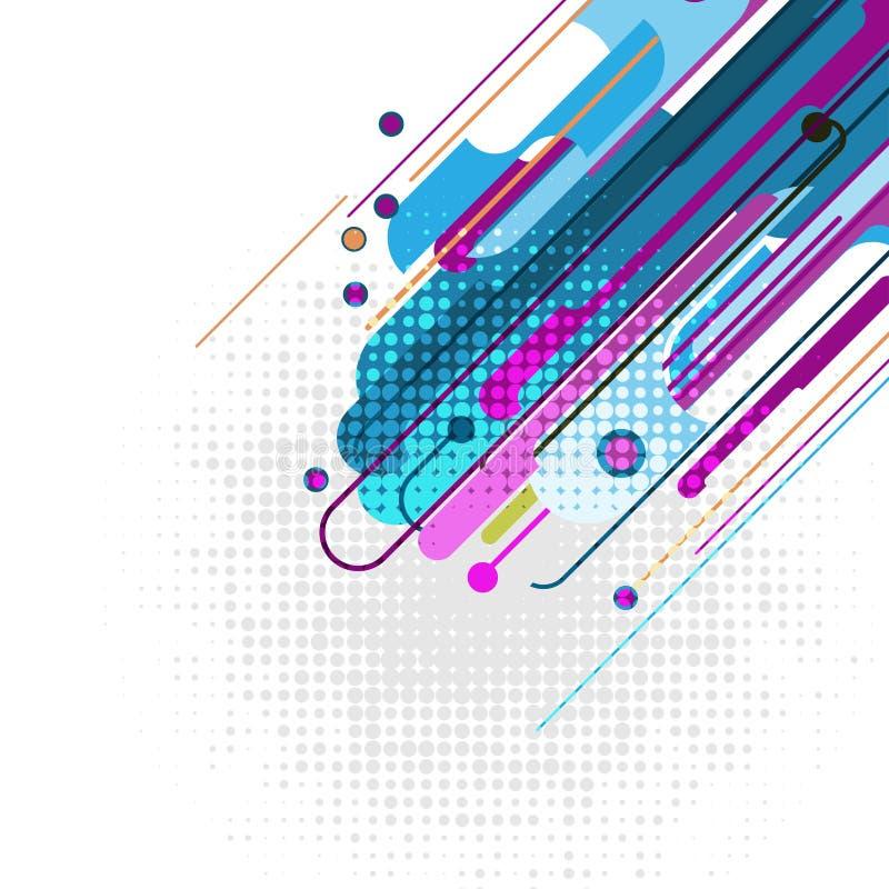 Geometrischer abstrakter Hintergrund des Mehrfarbenvektors Neue Hintergrundbeschaffenheit mit Kopienraum lizenzfreie abbildung