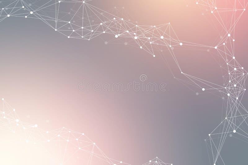 Geometrischer abstrakter Hintergrund mit verbundener Linie und Punkten Netz- und Verbindungshintergrund für Ihre Darstellung stock abbildung