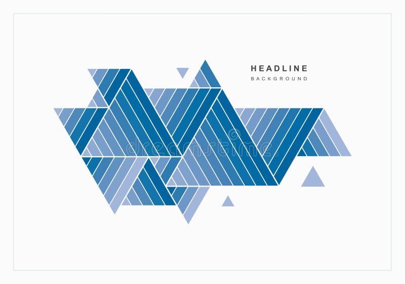 Geometrischer abstrakter Hintergrund von blauen Dreiecken stock abbildung