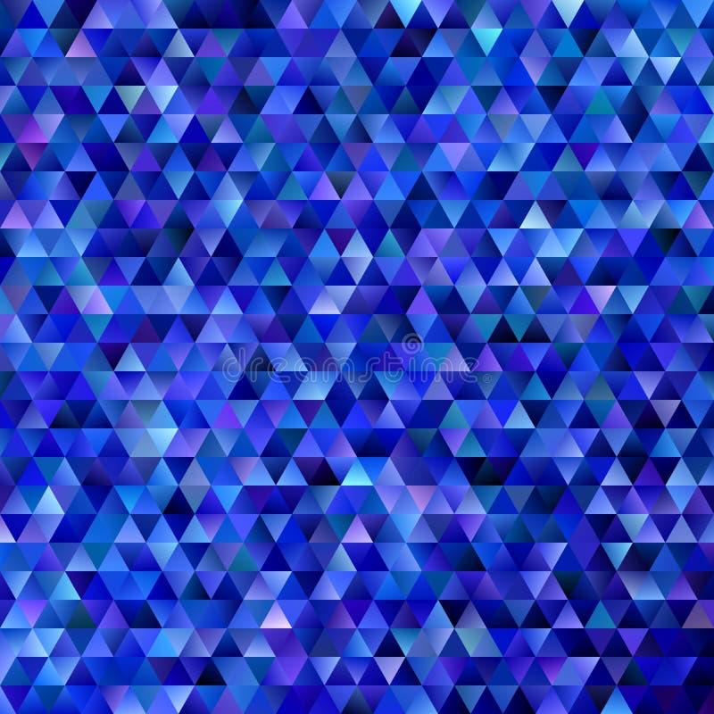 Geometrischer abstrakter regelmäßiger Dreieckmosaikhintergrund - Steigungspolygon-Vektorentwurf von den Dreiecken in den dunkelbl lizenzfreie abbildung