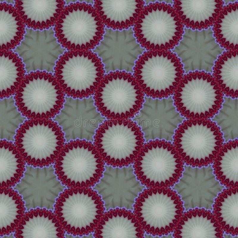 Geometrischer abstrakter roter, grüner, schwarzer, weißer, grauer digitaler Hintergrund mit kybernetischen Partikeln lizenzfreie abbildung