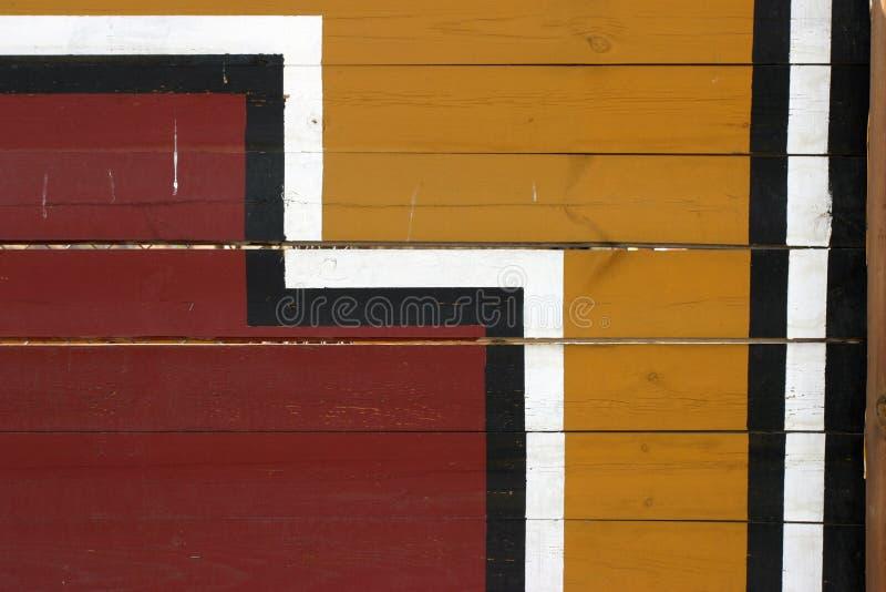 Geometrischer Anstrich auf Planken lizenzfreie stockbilder