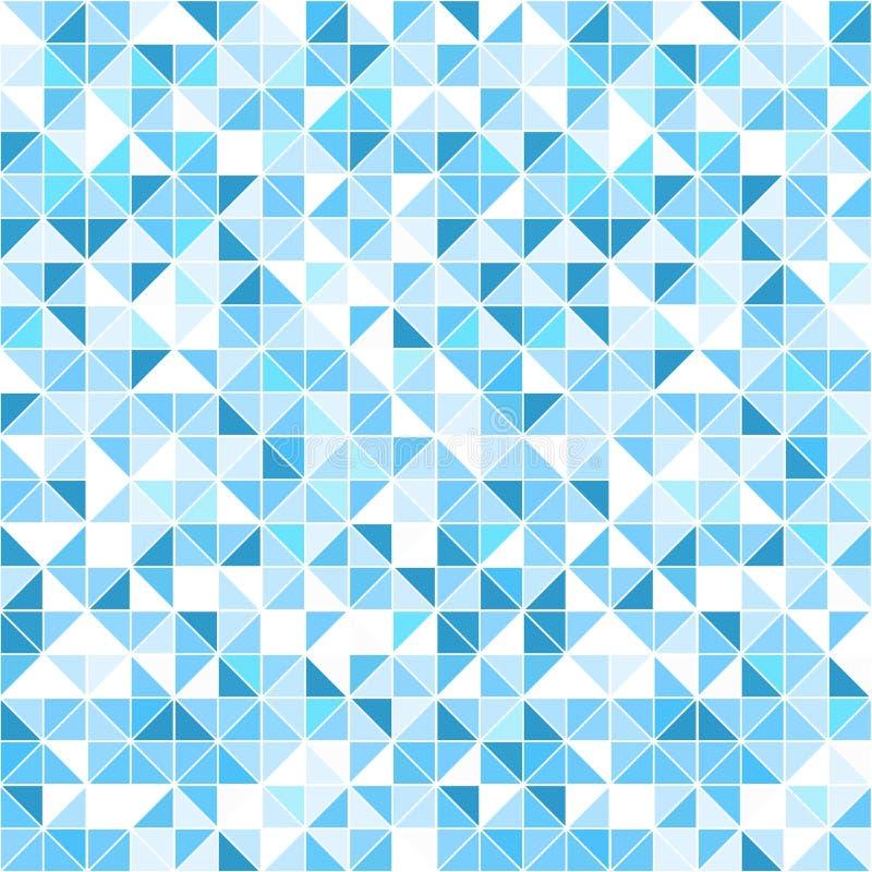 Geometrischer blauer Hintergrund - nahtlos stock abbildung
