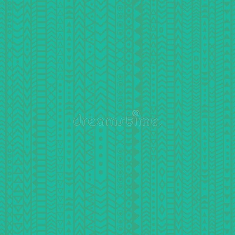 Geometrischer blaugrüner Musterhintergrund mit abstrakten Elementen und Streifen lizenzfreie stockfotografie