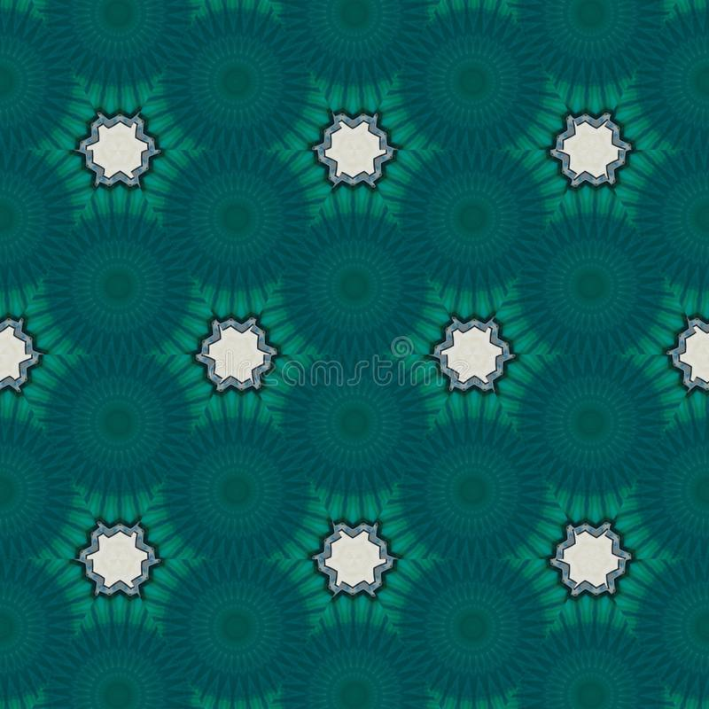 Geometrischer digitaler Hintergrund der Zusammenfassung blue+green mit kybernetischen Partikeln vektor abbildung