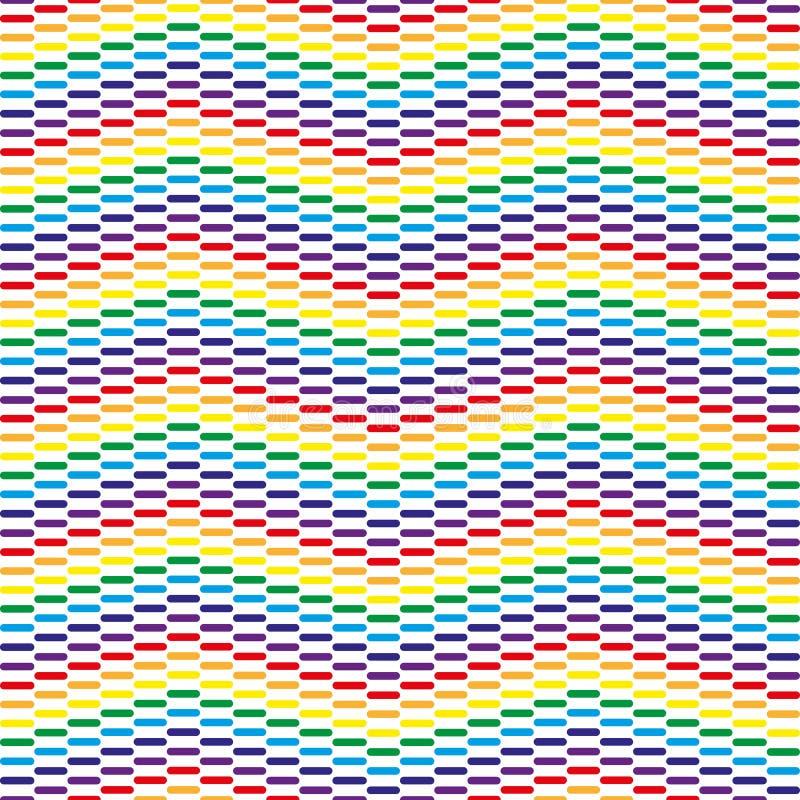 Geometrischer dynamischer Regenbogenhintergrund Buntes Regenbogenmuster stock abbildung