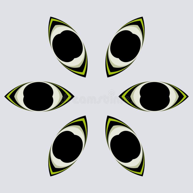 Geometrischer Entwurf der Augen vektor abbildung