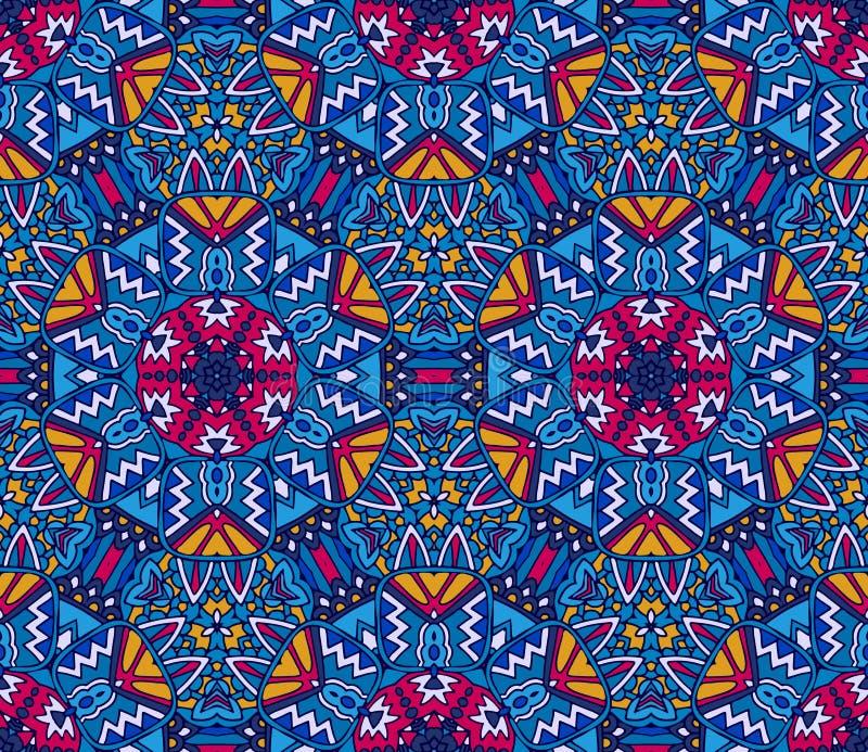 Geometrischer ethnischer nahtloser Ornamental Muster der Stammes- Weinlesezusammenfassung lizenzfreie abbildung
