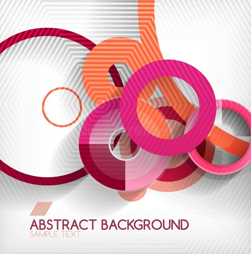 Geometrischer Formhintergrund des modernen Kreises vektor abbildung