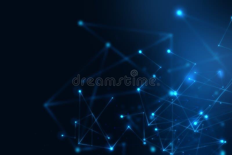 Geometrischer Fragmentzusammenfassungs-Technologiehintergrund vektor abbildung