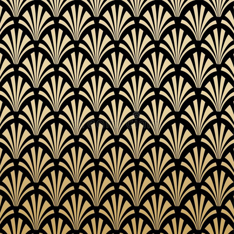 Geometrischer Gatsby Art Deco Pattern Background Design vektor abbildung
