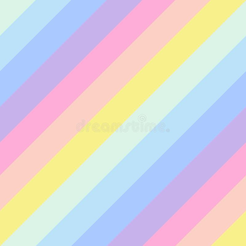 Geometrischer gestreifter nahtloser Hintergrund, Pastellregenbogenspektrumfarben vektor abbildung