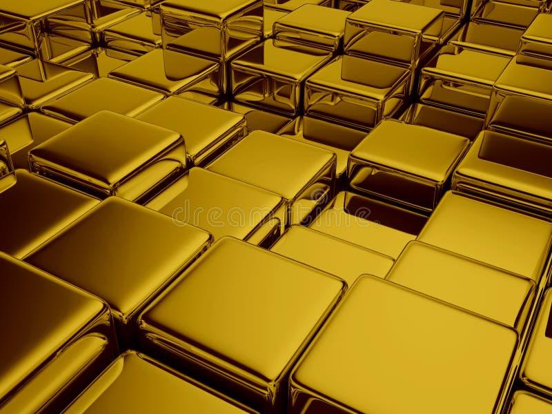 geometrischer goldener Hintergrund illustrtion 3d Zusammenfassung lizenzfreie abbildung