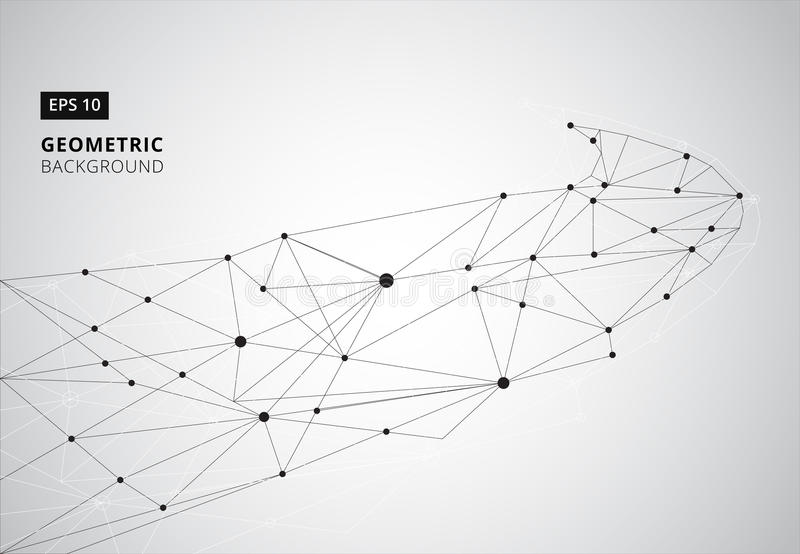 Geometrischer grafischer Schwarzweiss-Hintergrund Perspektive backdr lizenzfreie abbildung