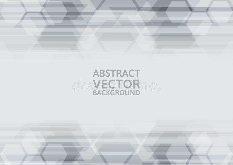 Geometrischer grauer abstrakter Hintergrund des Vektors vektor abbildung