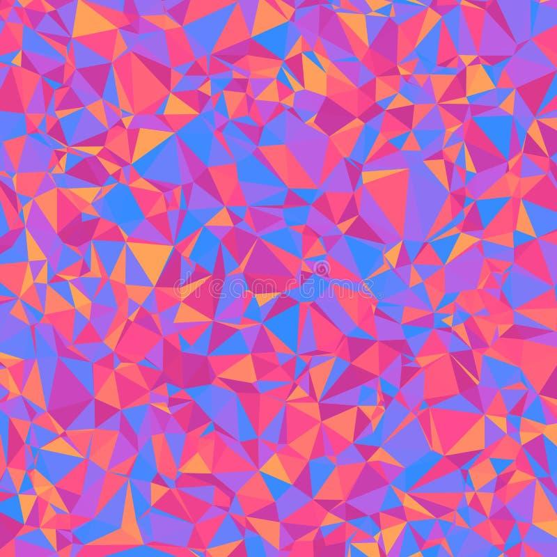 Geometrischer heller abstrakter Hintergrund von asymetrischen Dreiecken vektor abbildung