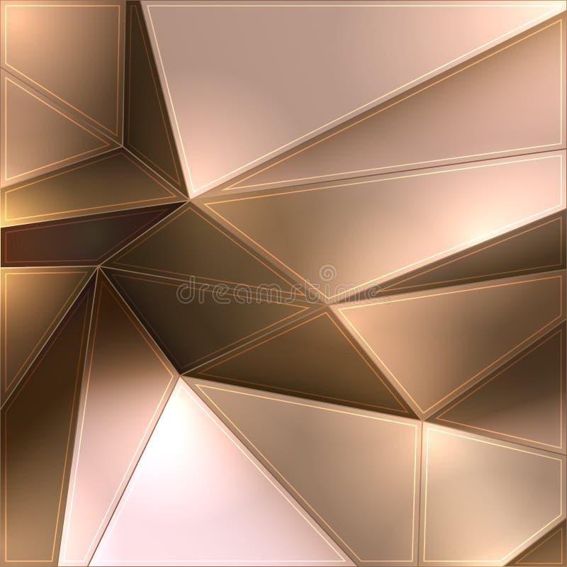 Geometrischer Hintergrund stock abbildung