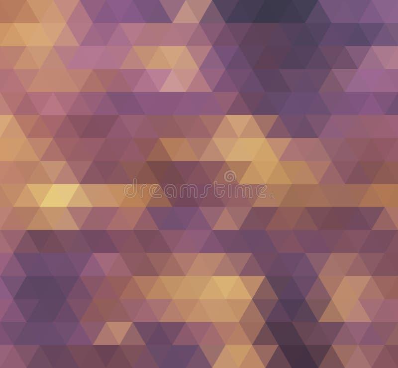 Geometrischer Hintergrund Bunte Retro- Hippie-Illustration vektor abbildung