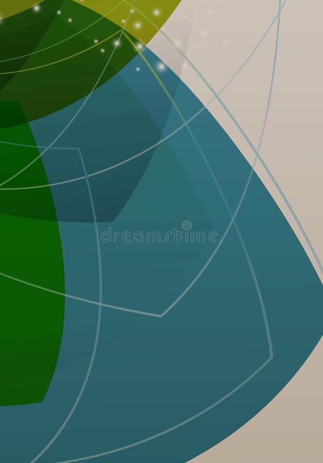 Geometrischer Hintergrund der Brosch?renabdeckungsdarstellungs-Zusammenfassung stock abbildung
