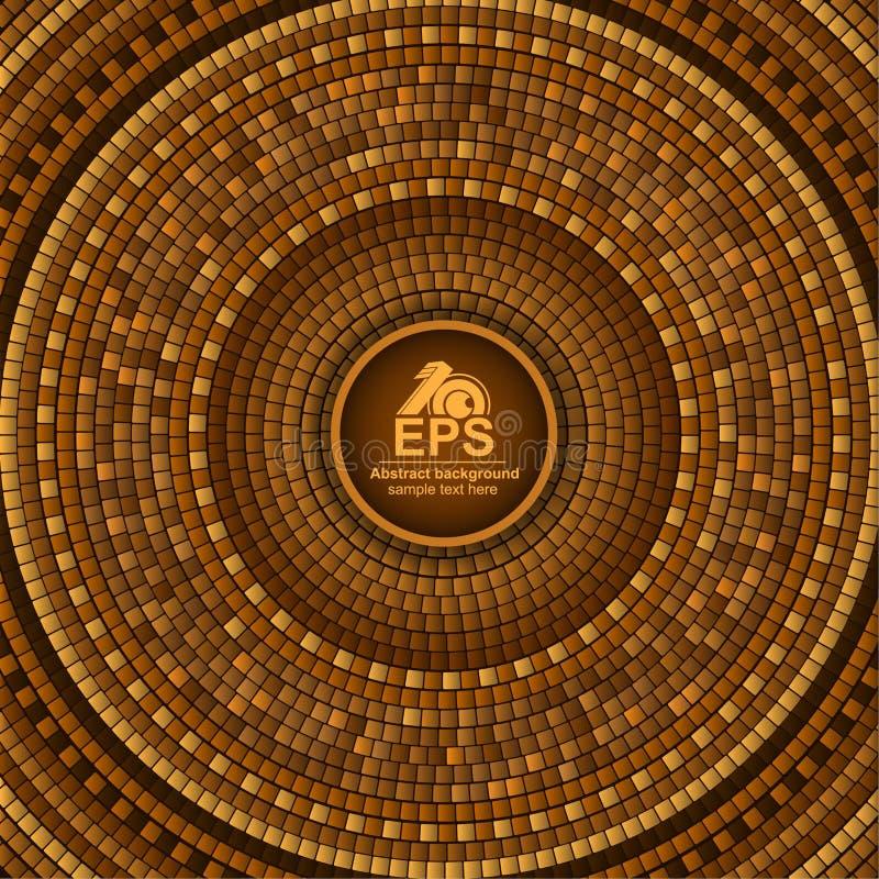 Geometrischer Hintergrund der runden griechischen Fliese der Zusammenfassung in im altem Stil stock abbildung