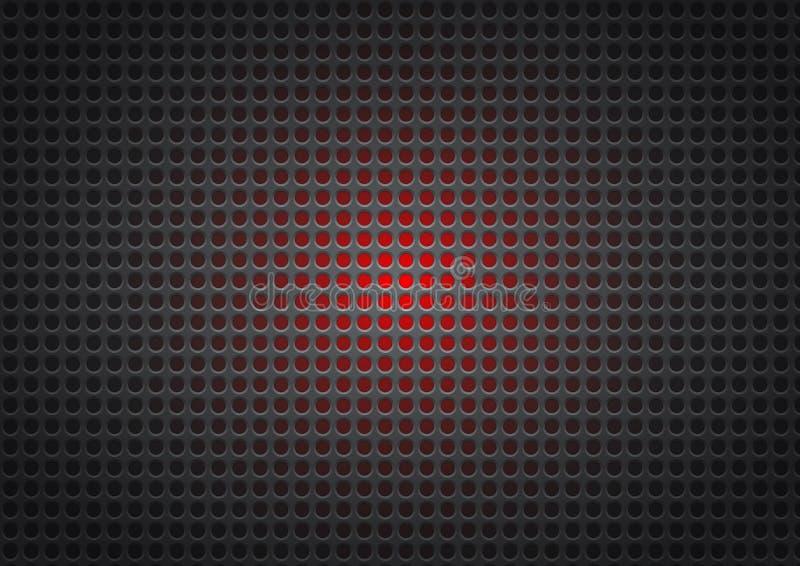 Geometrischer Hintergrund der schwarzen und roten Metallzusammenfassung vektor abbildung