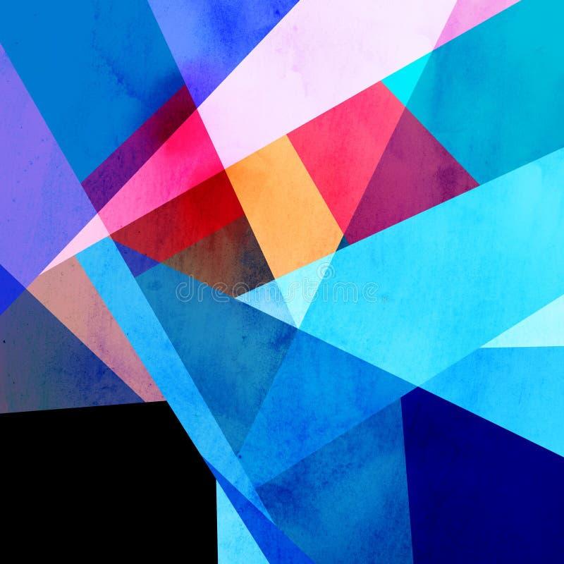 Geometrischer Hintergrund des abstrakten Aquarells lizenzfreie abbildung