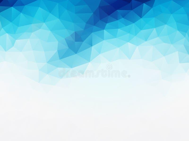 Geometrischer Hintergrund des blauen weißen Vektors stock abbildung