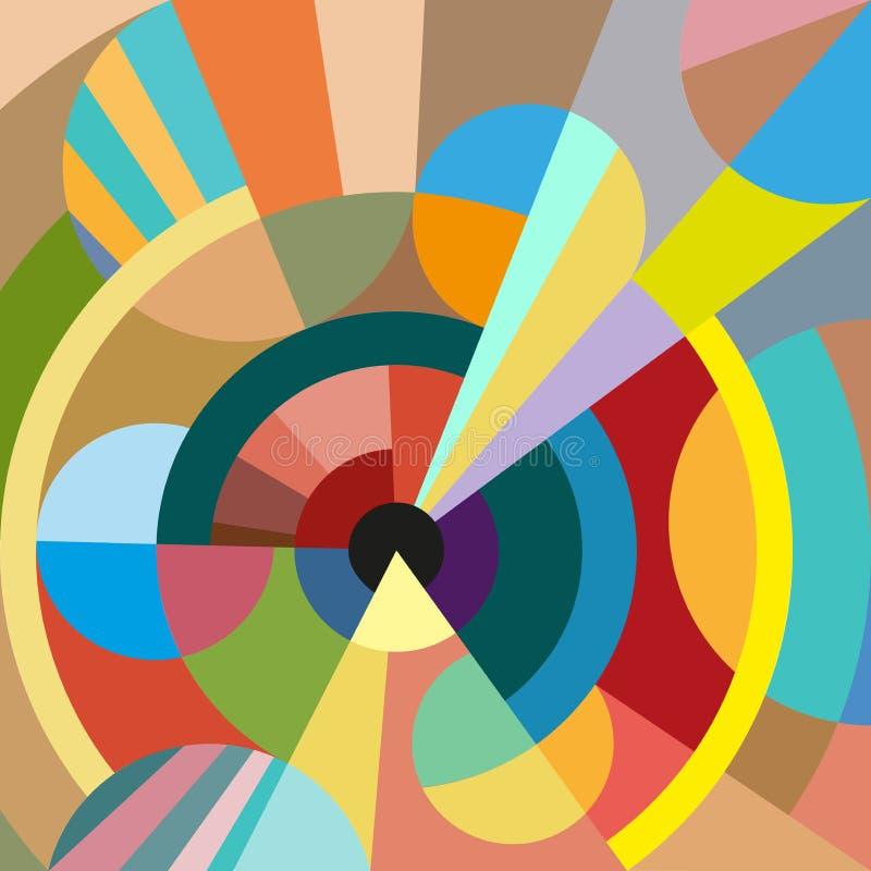 Geometrischer Hintergrund des nahtlosen Vektors lizenzfreie stockfotografie