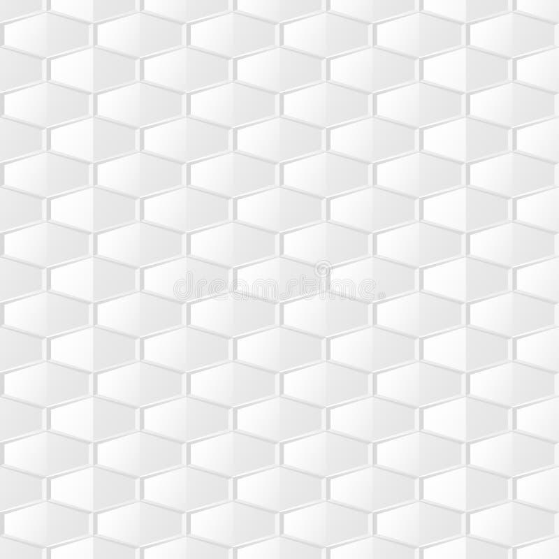 Geometrischer Hintergrund des Zusammenfassungslichtes Weiße und graue Beschaffenheit des nahtlosen modischen Mosaiks Keramisches  lizenzfreie abbildung