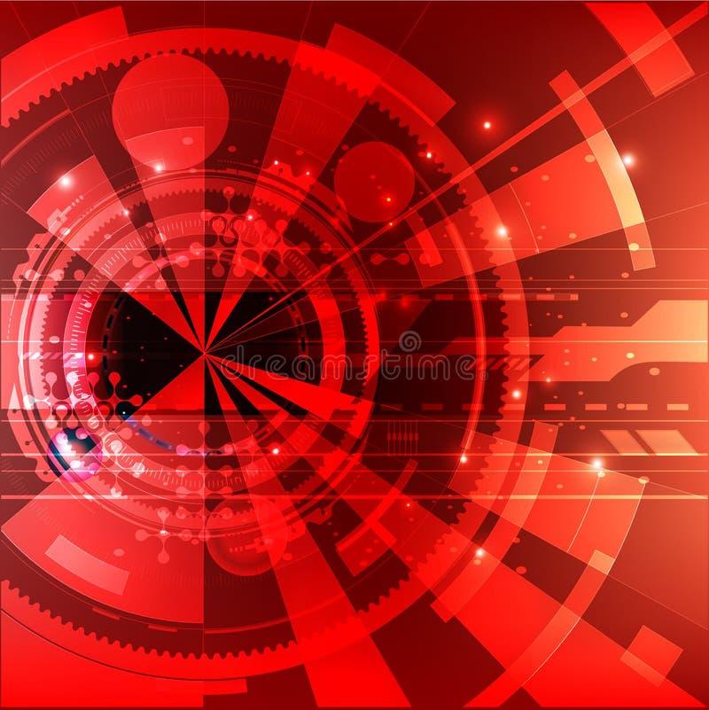 Geometrischer Hintergrund Dynamische Formzusammensetzung Vektor Eps10 Futuristisches Muster lizenzfreie abbildung