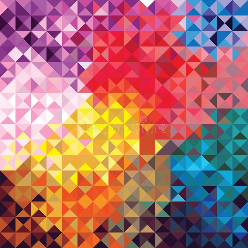 Geometrischer Hintergrund für Entwurf stock abbildung