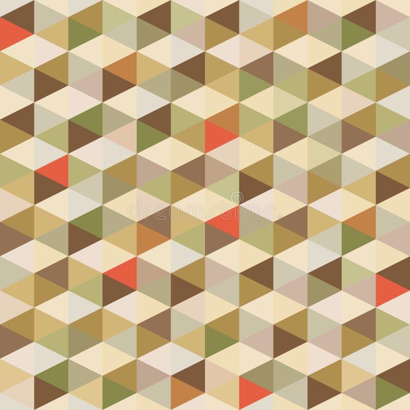 Geometrischer Hintergrund - nahtloses Muster in den Weinlese-Farben stock abbildung