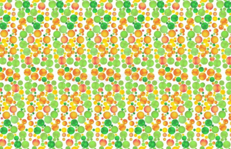 Geometrischer Hintergrund von hellen mehrfarbigen Kreisen Abstraktes Muster der Frucht Auch im corel abgehobenen Betrag vektor abbildung