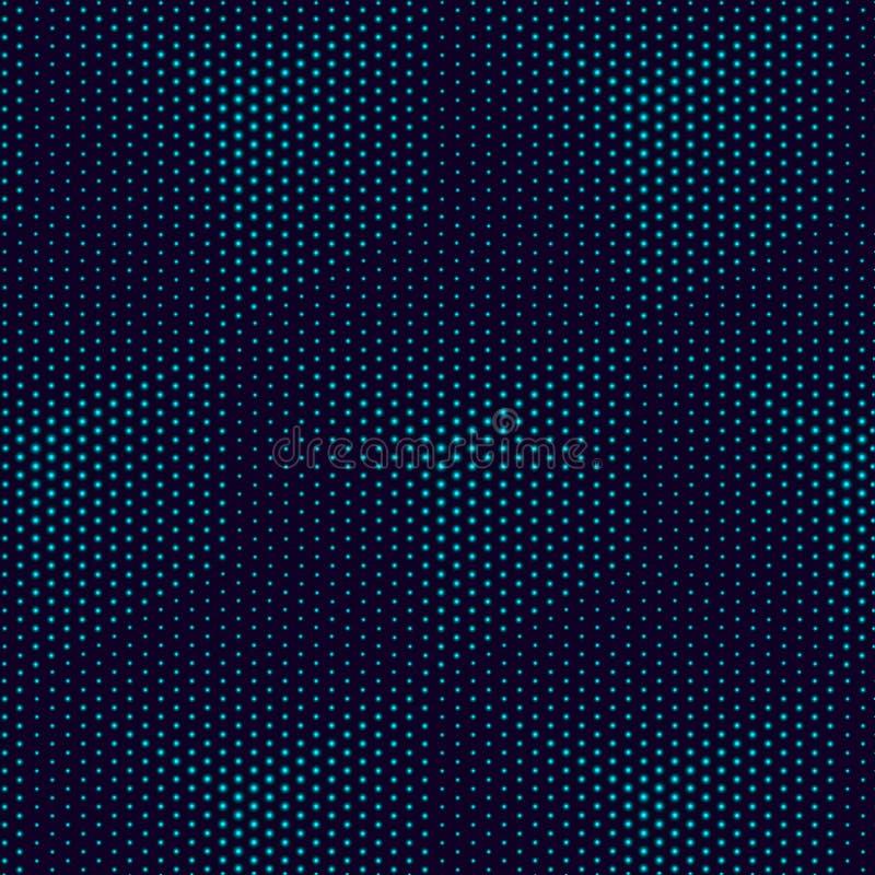 Geometrischer Hintergrund Würfelmuster Zusammenfassung Türkissteigungshintergrund, helle Würfel Futuristische Art der Technologie stock abbildung