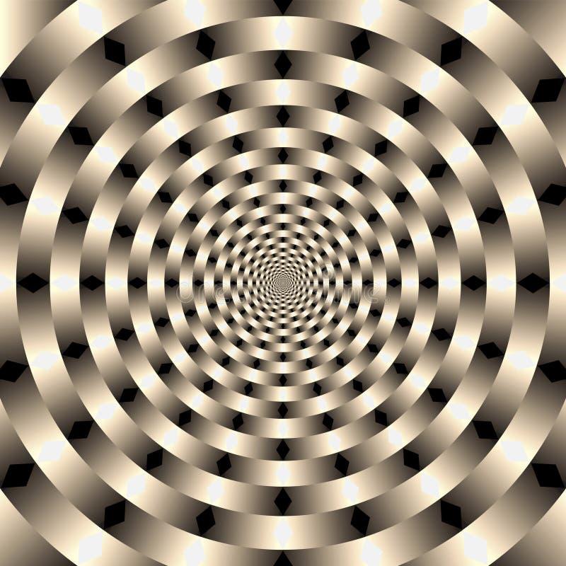 Geometrischer Illusionhintergrund vektor abbildung