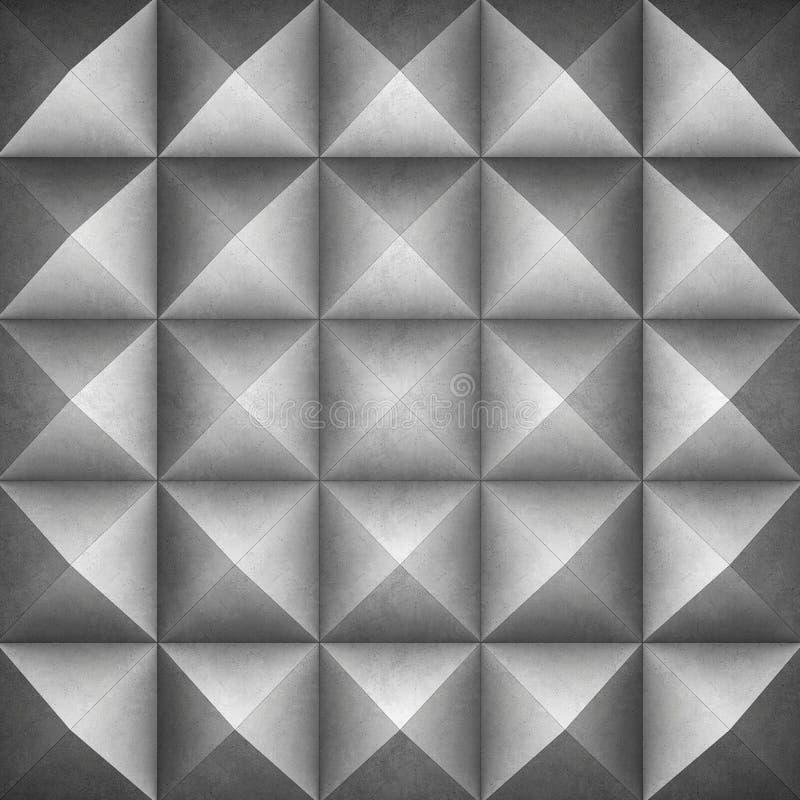 Geometrischer konkreter Hintergrund stock abbildung