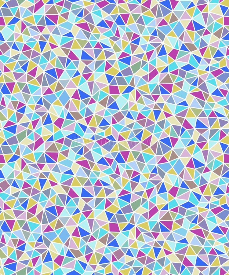 Geometrischer nahtloser Hintergrund der einfachen dreieckigen Formen lizenzfreie abbildung