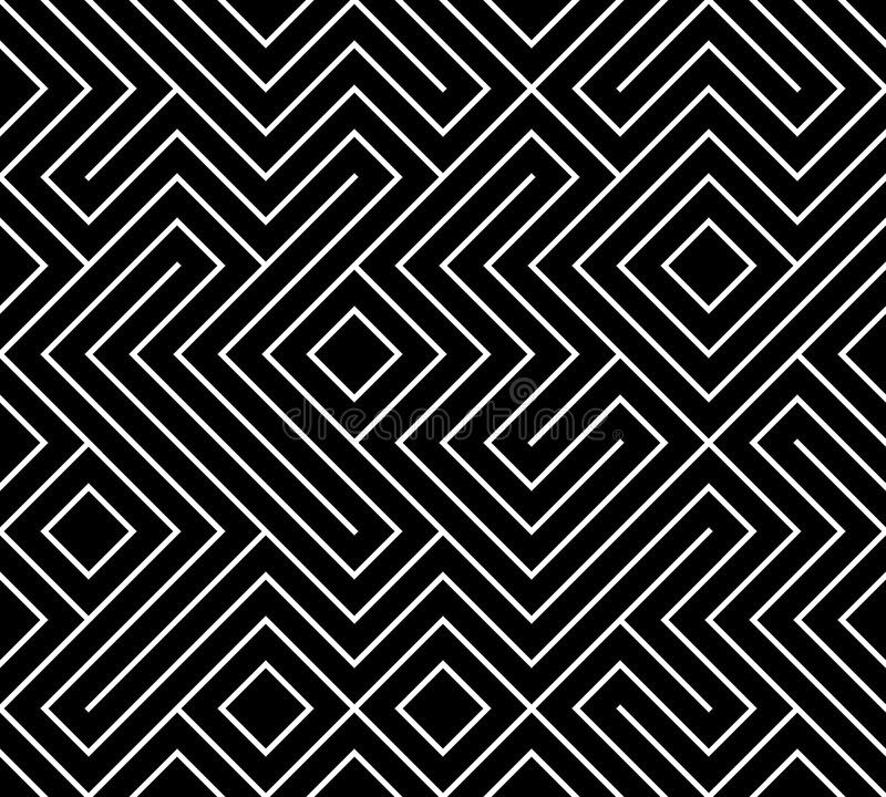 Geometrischer nahtloser Musterhintergrund Einfacher grafischer Druck Vektor, der Linie Beschaffenheit wiederholt Modernes Muster  stock abbildung