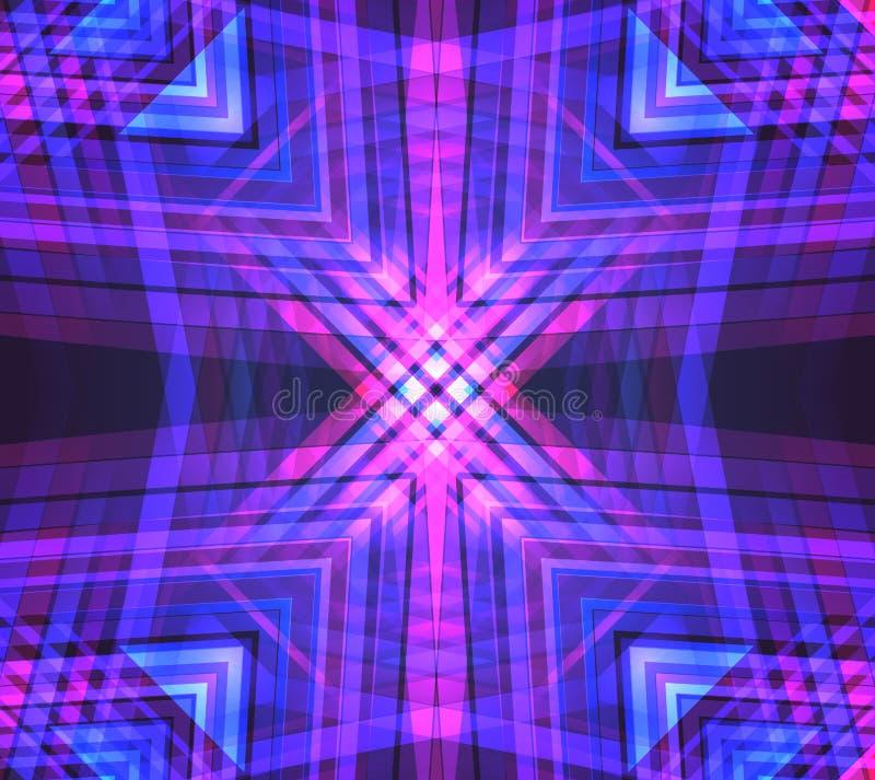 Geometrischer Neonhintergrund des Vektors lizenzfreie abbildung