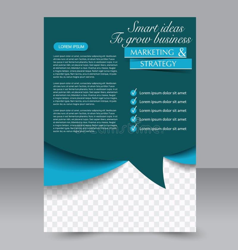 Geometrischer Plan der Broschüre Fliegerschablone Editable Plakat A4 stock abbildung