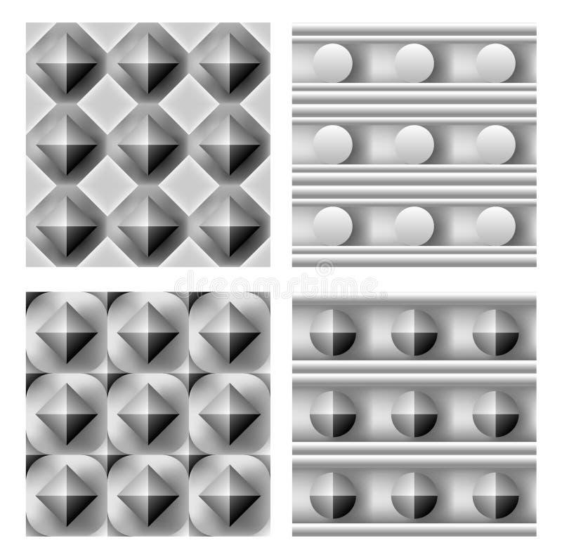 geometrischer Satz des Musters 3d stock abbildung