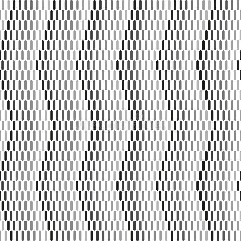 Geometrischer Schwarzweiss-Hintergrund Einfarbiges dynamisches Muster des Zickzacks stock abbildung
