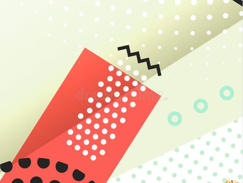 Geometrischer Symbolhintergrund stock abbildung